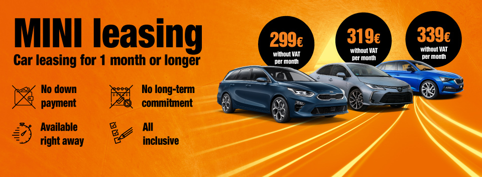 Car leasing for 1 month or longer. No down payment | SIXT Leasing
