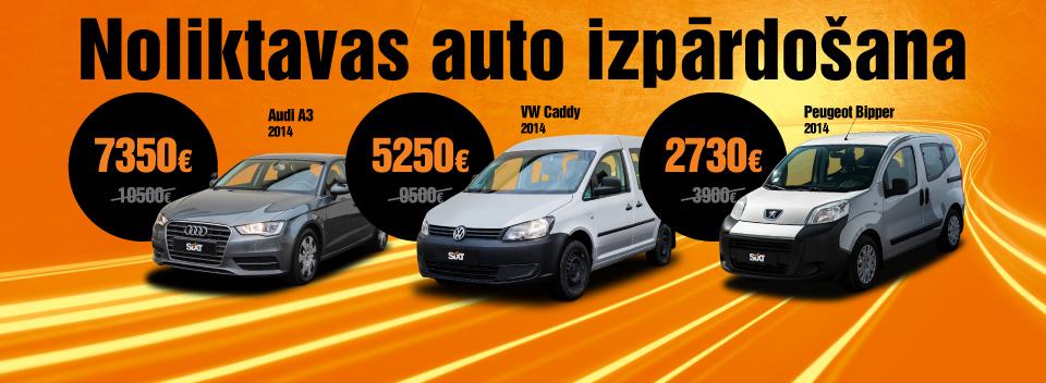 SIXT lietoto auto izpārdošana