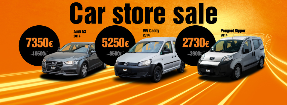SIXT car store sale