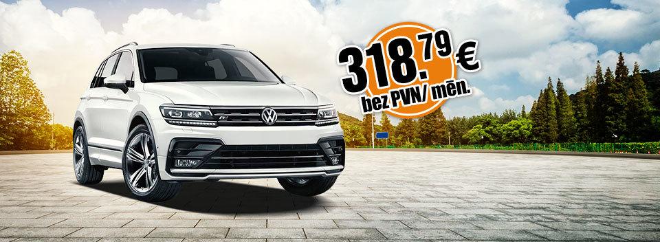 VW Tiguan pilna servisa auto līzings no Sixt Leasing