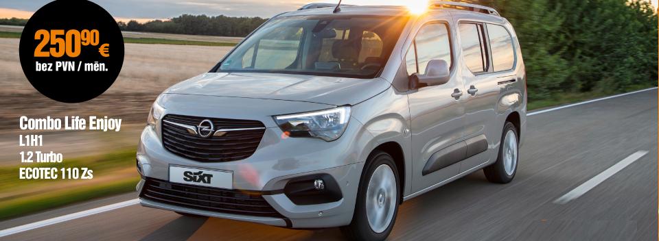Opel Combo Life Enjoy L1H1 1.2 Turbo ECOTEC pilna servisa auto lizings no SIXT Leasing