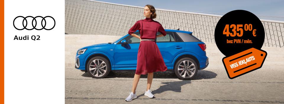Audi Q2 pilna servisa auto līzings - SIXT Leasing