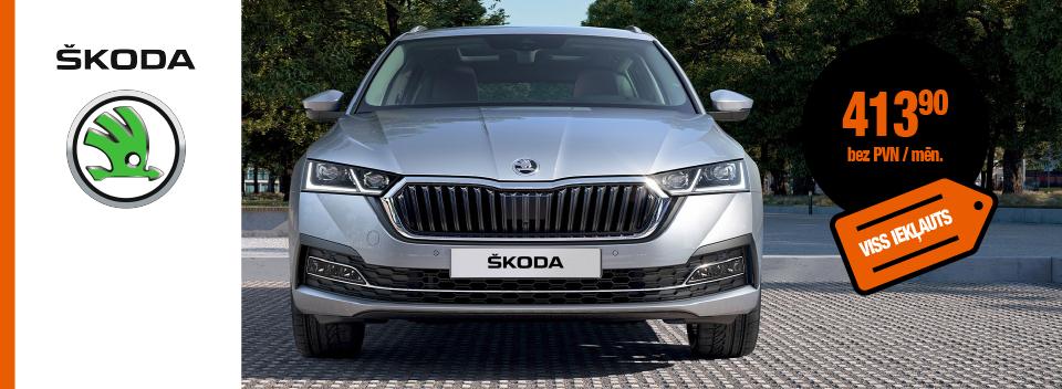Auto līzings - Škoda Octavia bez pirmās iemaksas - SIXT Leasing