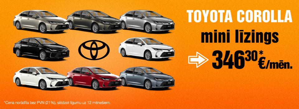 Toyota Corolla auto līzings uz 12 mēnešiem