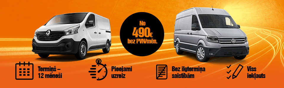 Renault Master, Renault Trafic, VW Crafter auto līzings - ilgtermiņa auto noma | SIXT Leasing