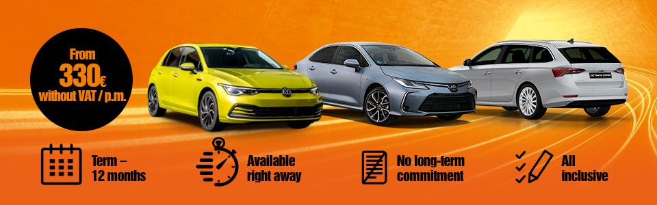 VW Golf, Toyota Corolla, Škoda Octavia car leasing - long term rental | SIXT Leasing