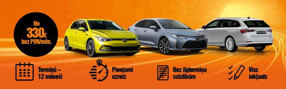 VW Golf, Toyota Corolla, Škoda Octavia auto līzings - ilgtermiņa auto noma | SIXT Leasing