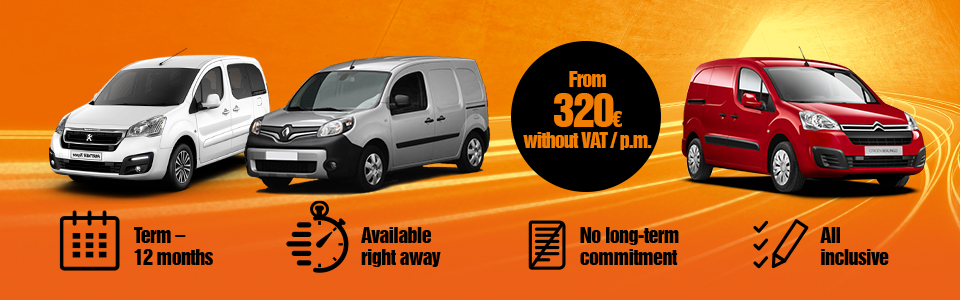 VW Caddy, Peugeot Rifter, Ford Tourneo Connect car leasing - long term rental | SIXT Leasing