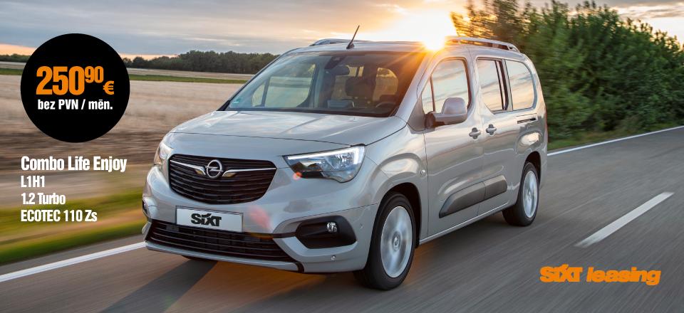 Opel Combo Life Enjoy pilna servisa auto līzings no SIXT Leasing