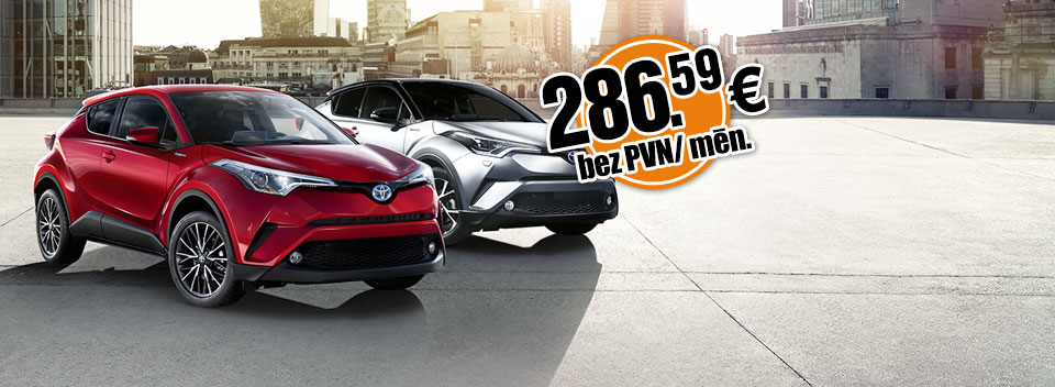 Toyota CHR ilgtermiņa auto noma no Sixt Leasing | Auto līzings uzņēmumiem