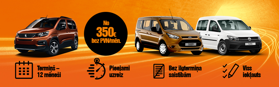 VW Caddy, Peugeot Rifter, Ford Toureno Connect auto līzings - ilgtermiņa auto noma | SIXT Leasing